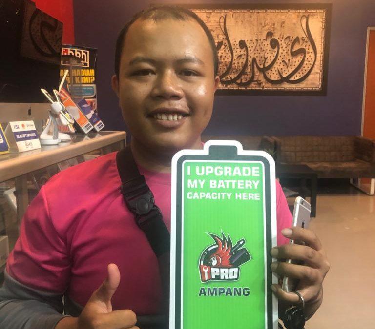 iPhone 6 LCD Crack Repair and Upgrade Battery Capacity at iPro Ampang KL